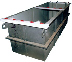 M. S. Tank with inside PVC Lining Outside FRP Lining